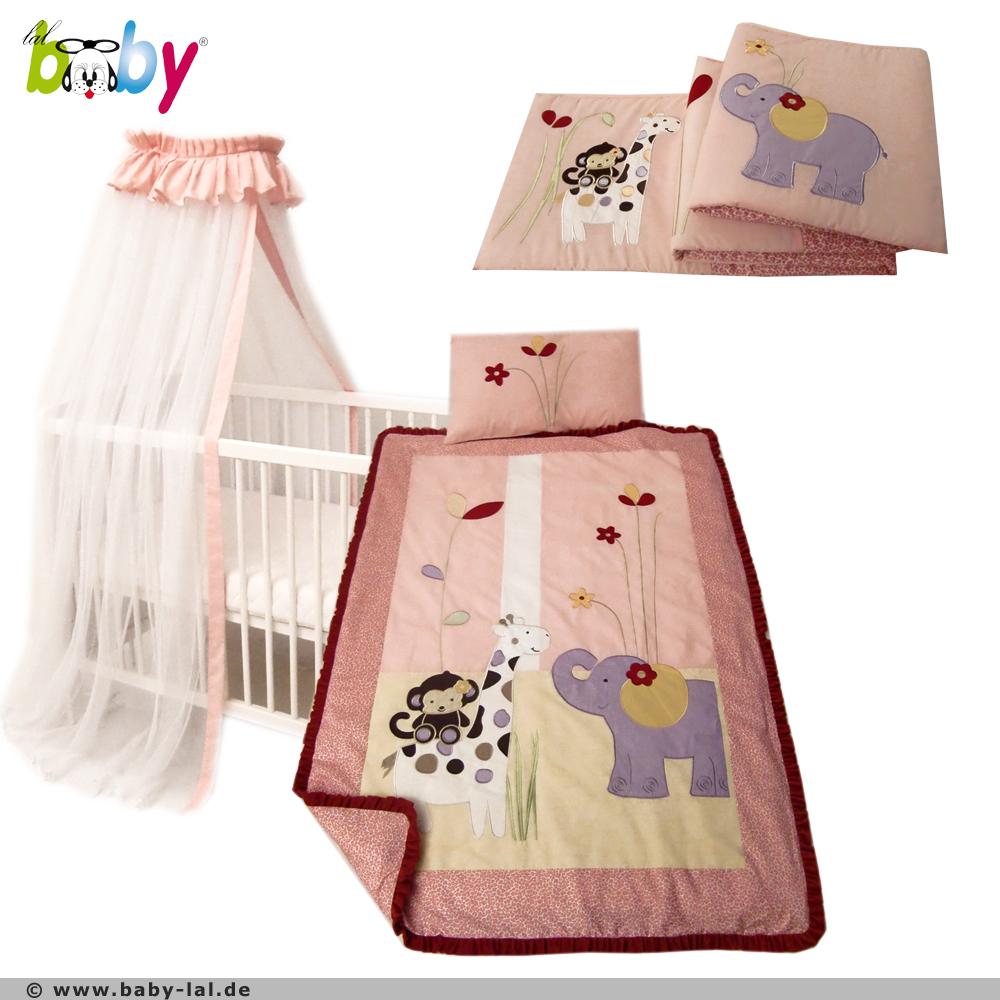 designer kinder set baby bettset baby bettw sche betthimmel nestchen safari neu ebay. Black Bedroom Furniture Sets. Home Design Ideas