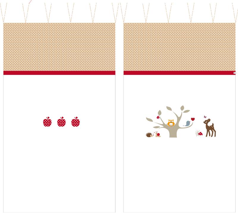 Vorhang Kinderzimmer Eule :  Ausstattung  Kinderzimmer VorhangEULESHUHUU mit Waldfreunden