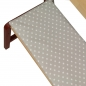 Preview: ★ Kinder Bankkissen, Bankauflage in Grau - 58x25cm