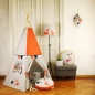 Preview: ★ FUCHS & Co.: 5-seitiges Tipi / Spielzelt - personalisierbar