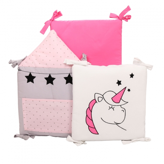 ★ EINHORN: 6-tlg. Nestchen for princess, altrosa