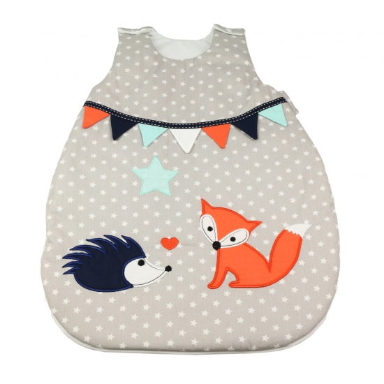 ★ FUCHS & Co.: newborn Schlafsack in Grau - 56cm/62cm